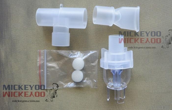 Камера небулайзера, мундштук-тройник и фильтры ингалятора